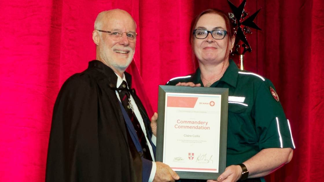 investiture honours more than 150 st john wa staff and volunteers for their commitment to community