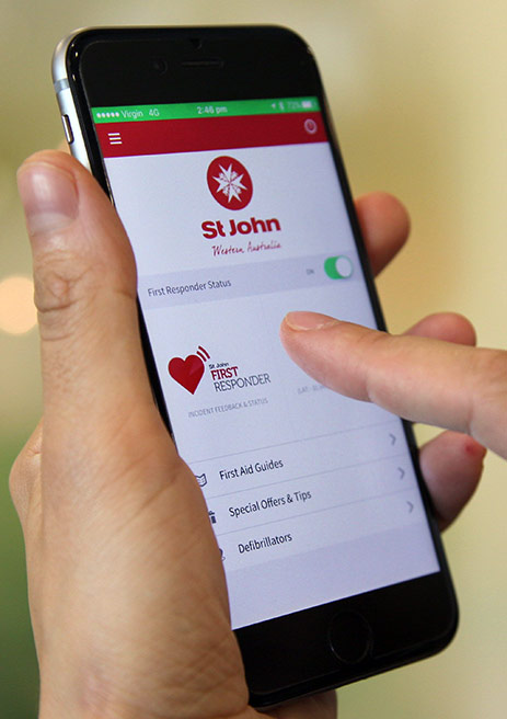 St John First Responder App Updates on Mobile