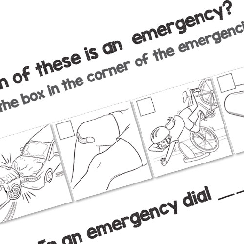 Colouring in book ambulance